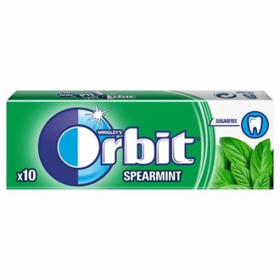 "Rágó, 14 g, ORBIT ""Spearmint drazsé"""